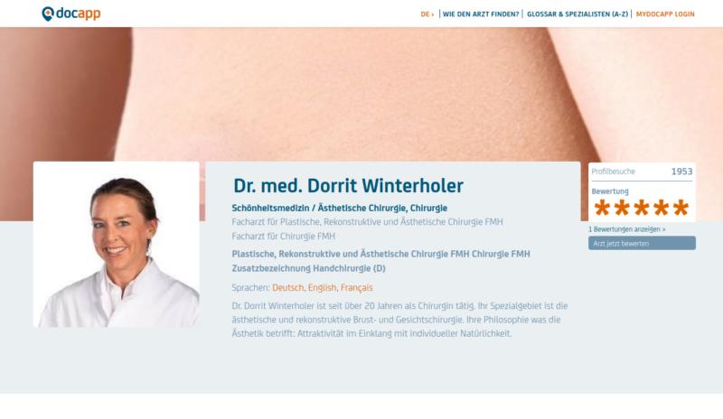docapp Bewertungen Dr. WInterholer